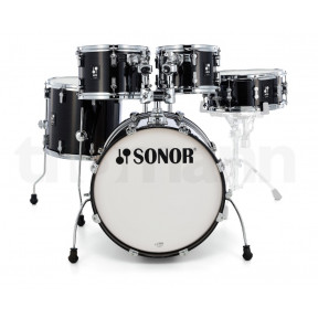 SONOR AQ2 Transparent Stain Black Studio Shell Set