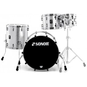 SONOR Prolite Stage 3 Silver Sparkle Shell Set