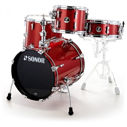 SONOR Safari Red Sparkle Shell Set