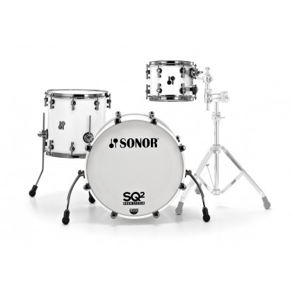 SONOR SQ2 Beech Solid White Rock Shell Set