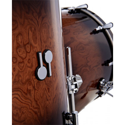 SONOR SQ2 Beech Walnut Brown Burst Stage Shell Set