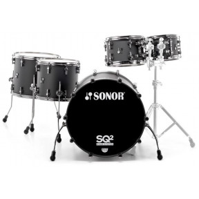 SONOR SQ2 Maple Hyper Black Stage Shell Set