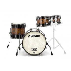 SONOR SQ2 Maple Walnut Brown Burst Studio Shell Set